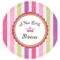 Parti Paketi Minik Prenses Küçük Tabak 8'Li