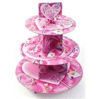 Parti Paketi Prenses Cupcake Standı