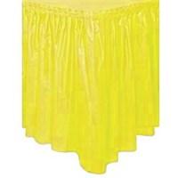 Parti Paketi Güneş Sarısı Plastik Masa Eteği