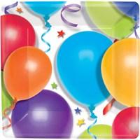 Parti Paketi Balonlar Ve Yıldızlar Küçük Tabak