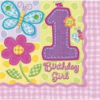Parti Paketi İlk Yaş Kız Büyük Peçete