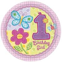 Parti Paketi İlk Yaş Kız Açık Büfe Tabağı 8'Li