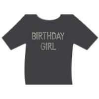 Parti Paketi Birthday GirlTaşlı T-Shirt Baskısı
