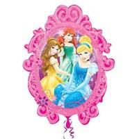 Parti Paketi Prensesler Çerçeve Supershape Folyo Balon