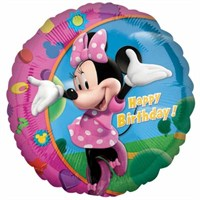 Parti Paketi Minnie Happy Birthday Folyo Balon