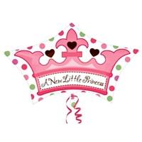 Parti Paketi Minik Prenses Tacı Şekilli Folyo Balon