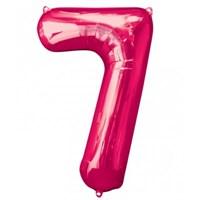 Parti Paketi 7 Sayısı Pembe Supershape Folyo Balon