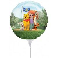 Parti Paketi Winnie Üfle Şişir Folyo Balon 3'Lü