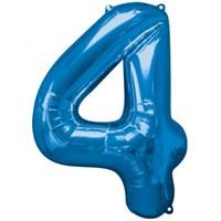 Parti Paketi 4 Sayısı Mavi Supershape Folyo Balon