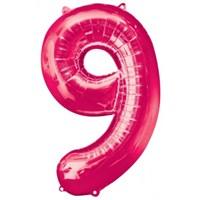 Parti Paketi 9 Sayısı Pembe Supershape Folyo Balon