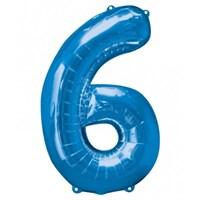 Parti Paketi 6 Sayısı Mavi Supershape Folyo Balon