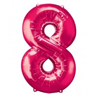 Parti Paketi 8 Sayısı Pembe Supershape Folyo Balon