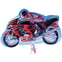 Parti Paketi Motosiklet Yarışçısı Ambalajsız Supershape Folyo Balon