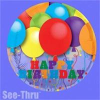 Parti Paketi Happy Birthday Balon Şeffaf Jumbo Folyo Balon
