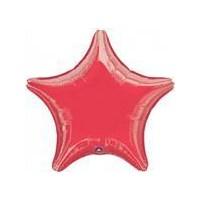 Parti Paketi Kırmızı Yıldız Folyo Balon
