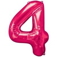 Parti Paketi 4 Sayısı Pembe Supershape Folyo Balon