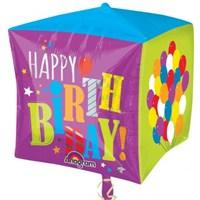 Parti Paketi Doğumgünü Balonları Kubik Folyo Balon