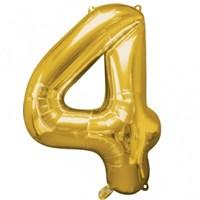 Parti Paketi 4 Sayısı Altın Supershape Folyo Balon