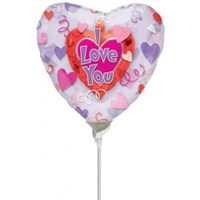 Parti Paketi Insider Minishape Folyo Balon Aşık Kalpler