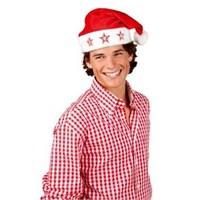 Parti Paketi Noel Baba Şapkası Yıldız Işıklı