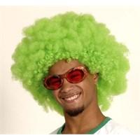 Parti Paketi Afro Yeşil Peruk Büyük