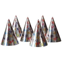 Parti Paketi Holografik Parti Şapkaları 6'Lı