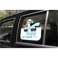 Parti Paketi Leylek Getirdi Mavi Baby On Board Sticker