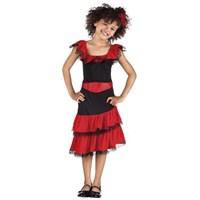 Parti Paketi İspanyol Kız Kostümü 4-6 Yaş
