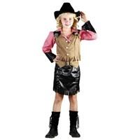 Parti Paketi Amerikan Kız Kovboy Kostümü Süperlüks 7-9 Y