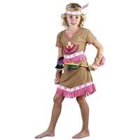 Parti Paketi Kızılderili Kız Kostümü Süperlüks 4-6 Y