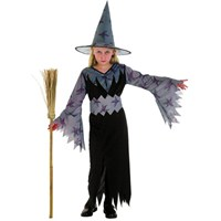 Parti Paketi Cadı Kostümü Gri 7-9 Yaş