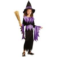 Parti Paketi Cadı Kostümü Mor 4-6 Yaş
