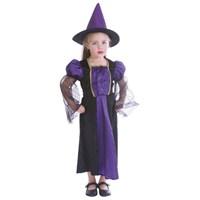 Parti Paketi Cadı Kostümü Mor 3-4 Yaş