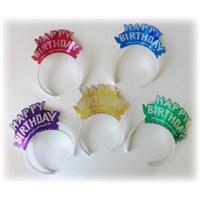 PartiTime Doğum Günü Metalik Karton Taç