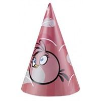 Parti Paketi Angry Birds Pink Parti Şapkası 6'Lı