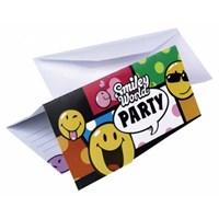 Parti Paketi Smiley Comic Davetiye