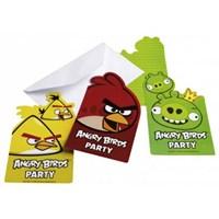 Parti Paketi Angry Birds Davetiye