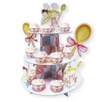 Parti Paketi Küçük Şefler Cupcake Standı