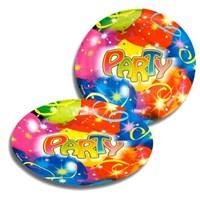 Parti Paketi Balonlar Ve Konfetiler Büyük Tabak 8'Li