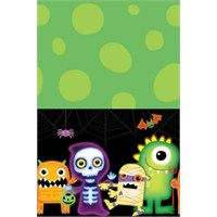 Parti Paketi Boo Monsters Plastik Masa Örtüsü