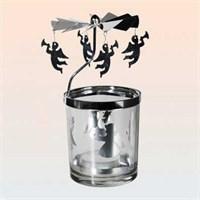Out Of The Blue Rüzgar Gülü Mumluklar - Rotating Glass Tealight Holder
