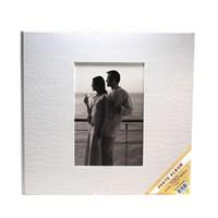 500'Lük Deri Fotoğraf Albümü-Beyaz