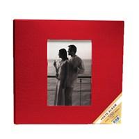 500'Lük Deri Fotoğraf Albümü-Kırmızı
