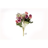 Yedifil Mini Gül Yapay Çiçek - Pembe