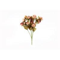 Yedifil Pembe Kuru Gül Yapay Çiçek