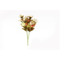 Yedifil Beyaz Kuru Gül Yapay Çiçek