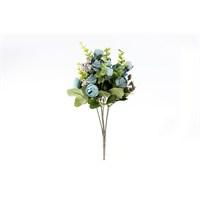 Yedifil Gonca Gül Mavi Yapay Çiçek