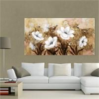 Atlantis Tablo Beyaz Çiçekler 110X60 Cm