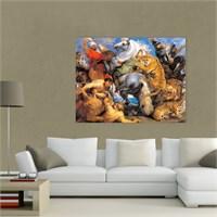 Atlantis Tablo Aslan Avı 65X50 Cm