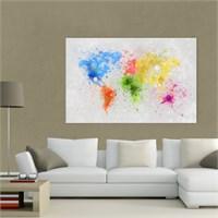 Atlantis Tablo Dünya Haritası 75X50 Cm